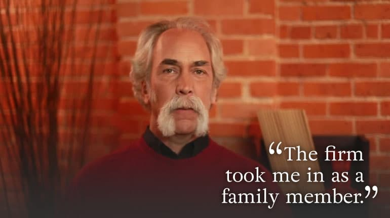 """…took me in as a family member"" testimonial"