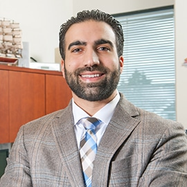 Attorney Brian Zaid in his office at The Sam Bernstein Law Firm in Farmington Hills, Michigan