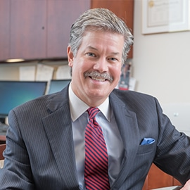 Attorney Ed Battersby in his office at The Sam Bernstein Law Firm in Farmington Hills, Michigan
