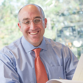 Mark Bernstein in his office at The Sam Bernstein Law Firm in Farmington Hills, Michigan