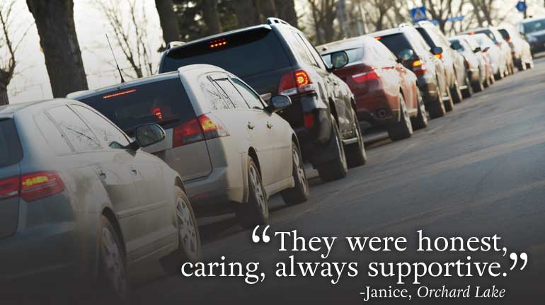 """They were honest, caring, always supportive."" testimonial"