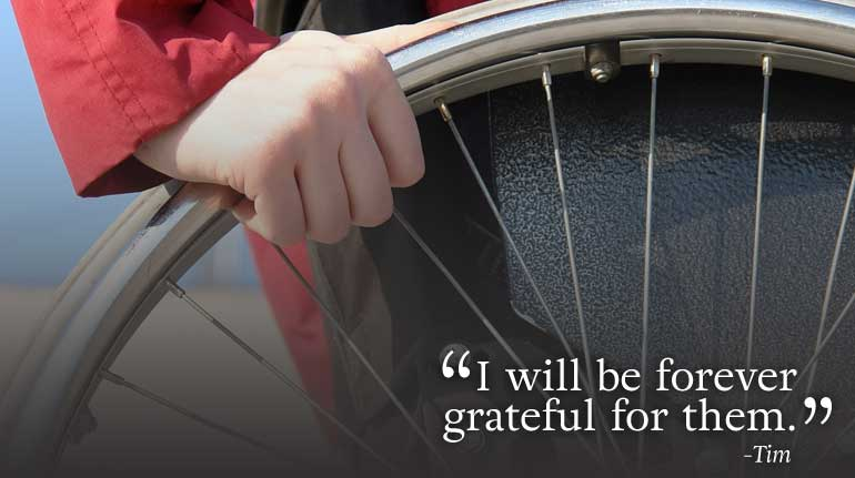 """I will be forever grateful…"" testimonial"