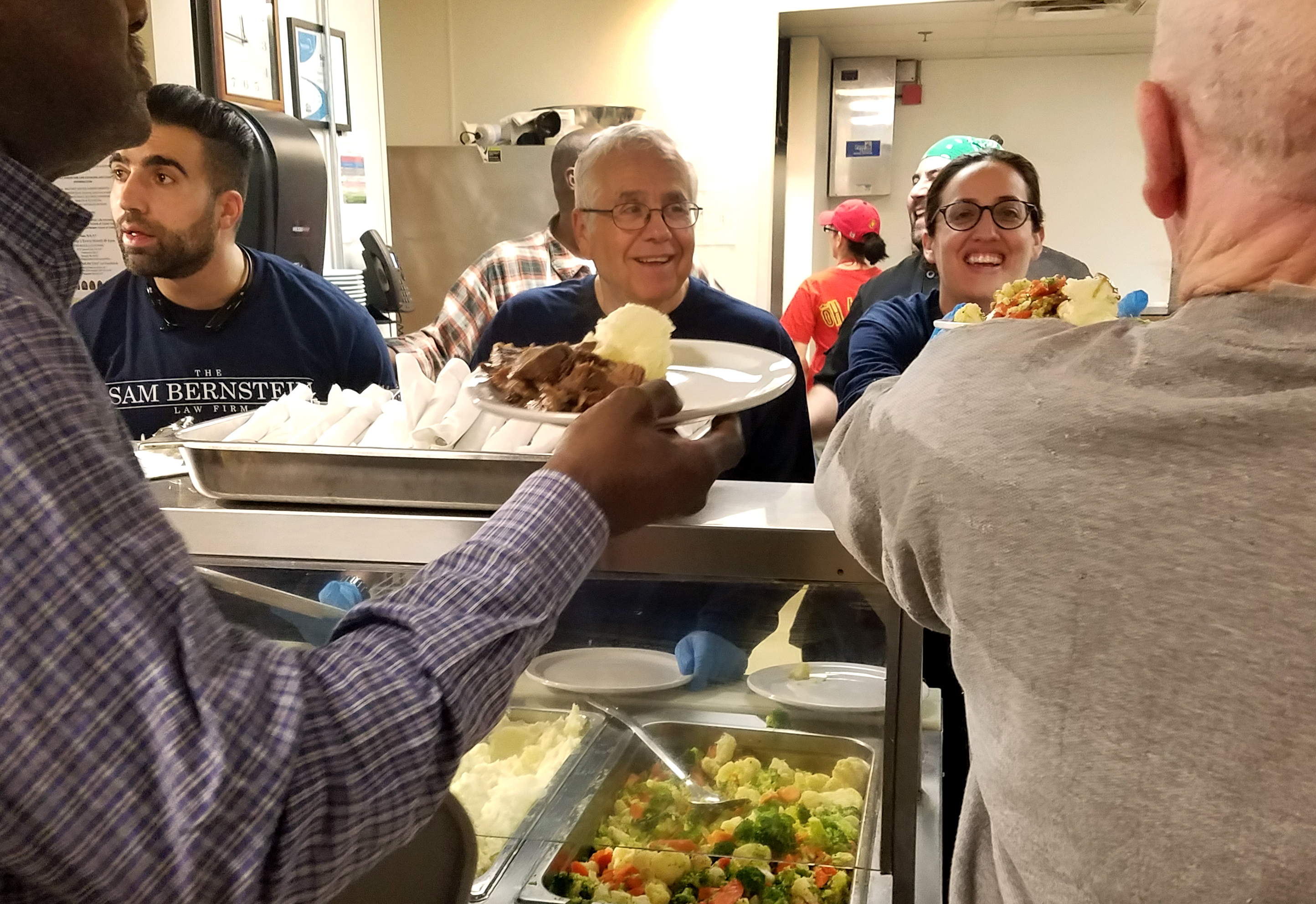 Serving Lunch to Veterans