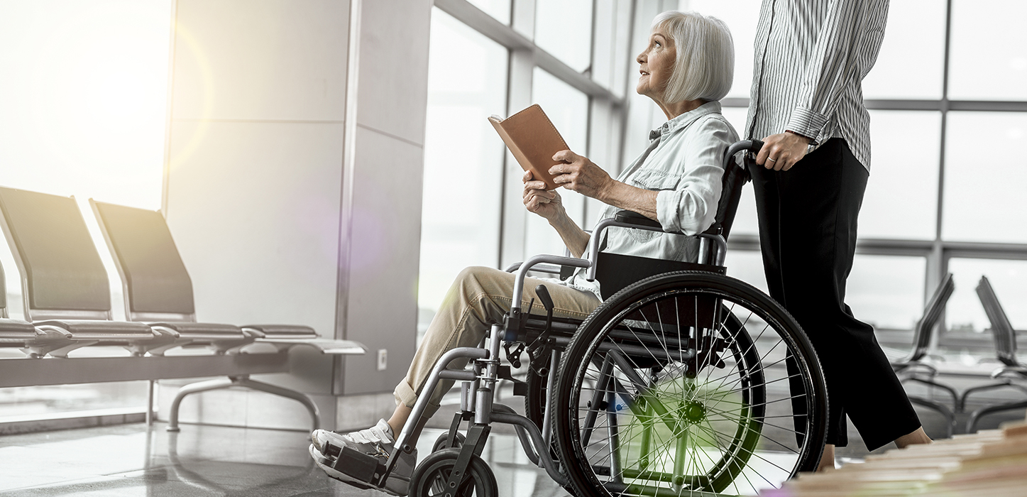 disabled woman in the airport