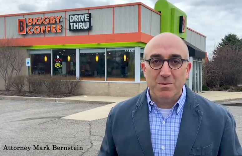 Attorney Mark Bernstein, Free Biggby Coffee for Essential Workers