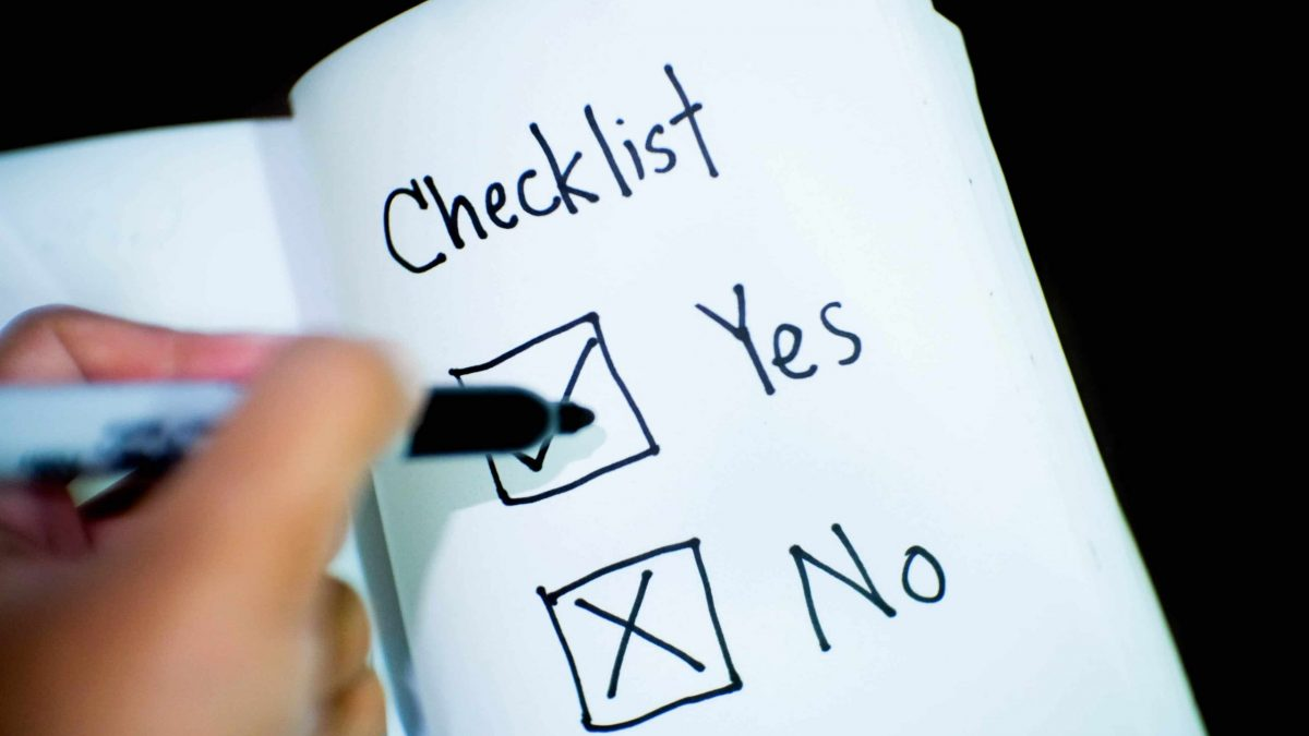 banking business checklist