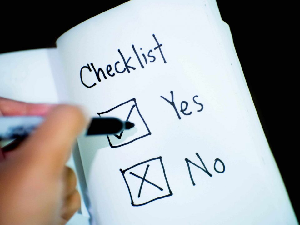 banking business checklist