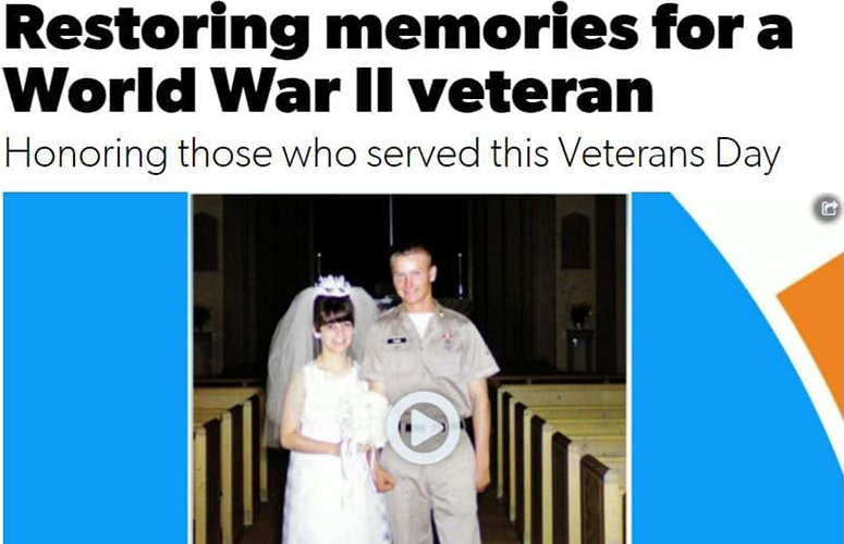 Restoring memories for a World War II veteran article