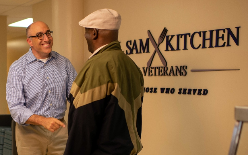 <h5>THE CALL SAM KITCHEN</h5><hr /><p>In 2018, in partnership with Volunteers of America Michigan (VOAMI), we established the Call Sam Kitchen for Veterans.</p>