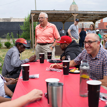 <h5>FIRST-ANNUAL VETERANS PICNIC</h5><hr /><p>Our staff enjoyed a summer BBQ, complete with music and games, with veterans who have received VOAMI assistance with housing or employment issues.</p>
