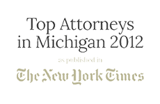 top attorneys in michigan 2012 logo